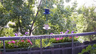 чашки на балконе