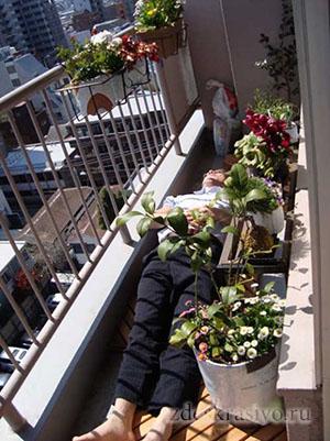 смешной балкон