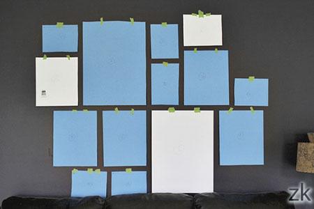 Технология планирования размещения фото на стене