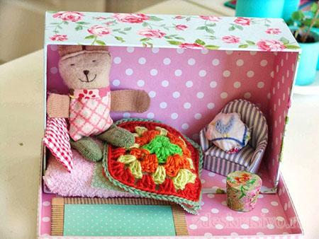 Кукольный домик из коробки для обуви