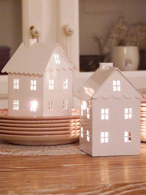 Новогодние домики сделать своими руками из фото 268
