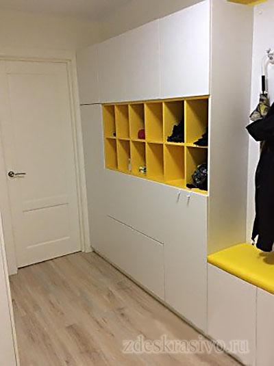 Распашной шкаф в прихожей-2