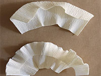 Поделки из гофрированной бумаги пошагово  — делаем верхнюю шляпку