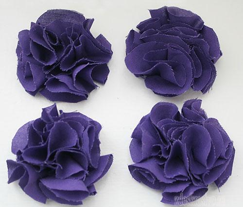 Цветы Помпончики из ткани