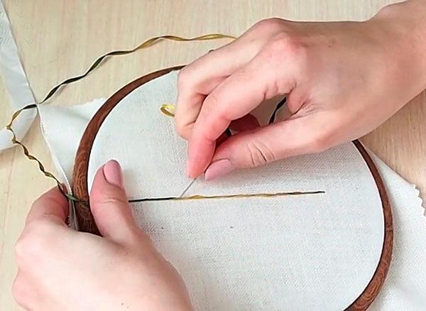 Вышивка лентами для начинающих мастер класс 2