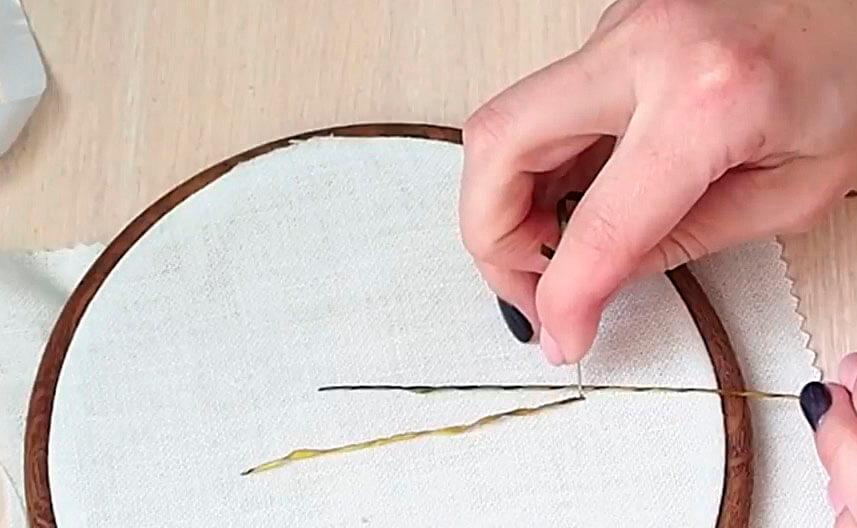 Вышивка лентами для начинающих мастер класс 6