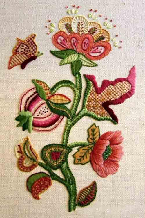 Виды вышивки - якобинская 1