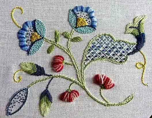 Виды вышивки - якобинская