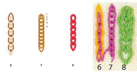 Модификации тамбурного шва 2