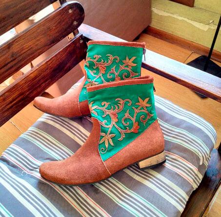 Тамбурная вышивка - татарские сапожки