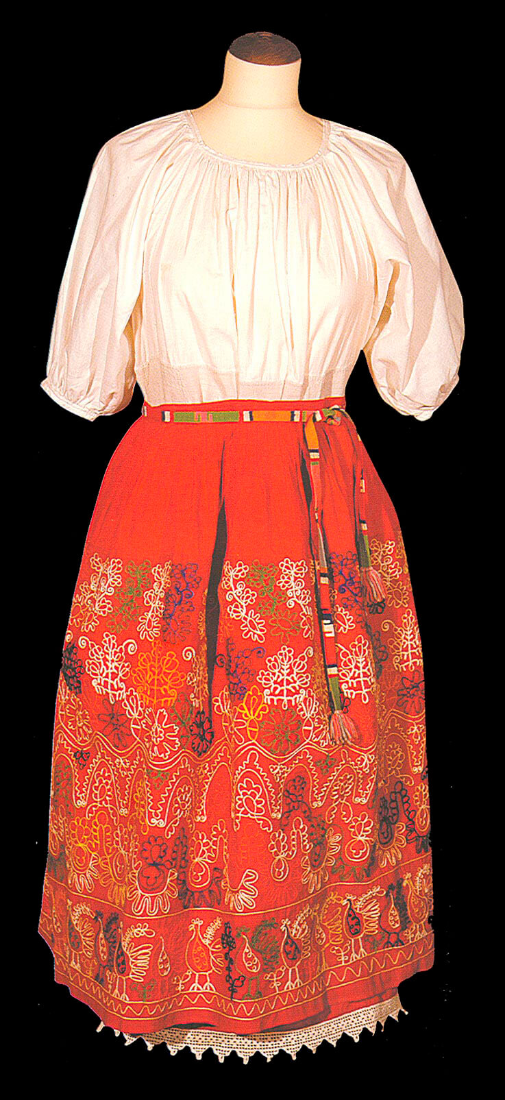 Тамбурная вышивка, русская одежда