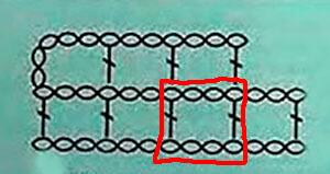 Пустая клетка филейного вязания