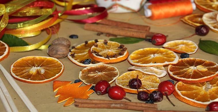Простые способы сушки апельсиновых долек для поделок или просто в чай