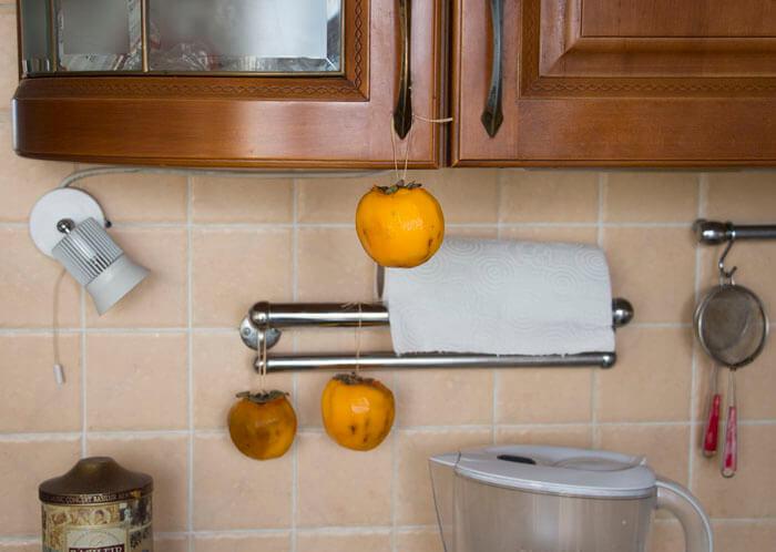 Как сушить хурму дома целиком