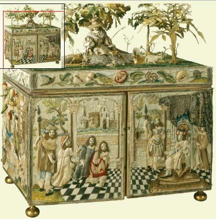 Объемная вышивка на шкатулке из Королевской Коллекции