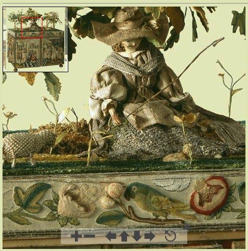 Объемная вышивка на шкатулке из Королевской Коллекции2