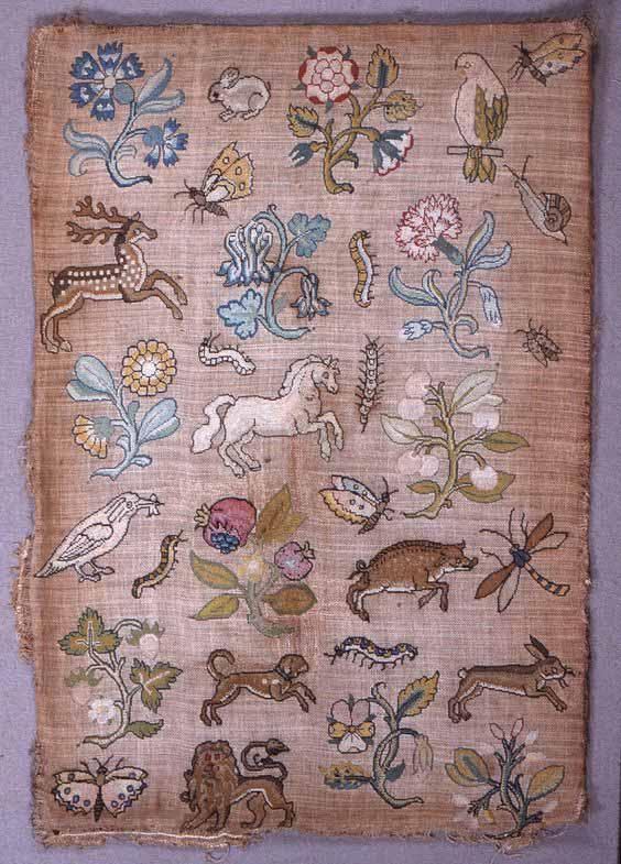Сэмплер XVII век