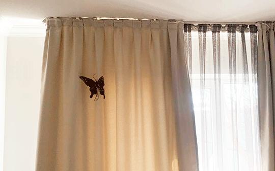 Как украсить шторы бабочками