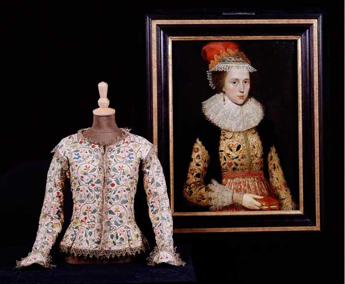 Елизаветинская вышивка — Вышитый жакет Маргарет Лейтон