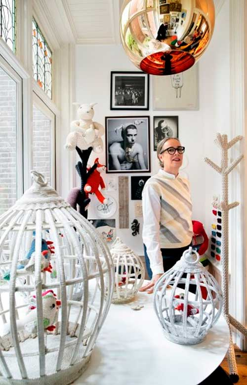 Дизайнер Энн Клер Пети в своем магазине