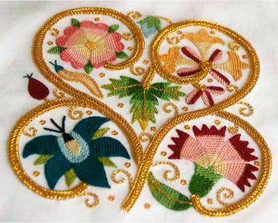 Елизаветинская вышивка