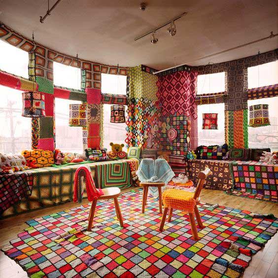 Вязание в интерьера дома с дизайнером Эллисон Митчелл